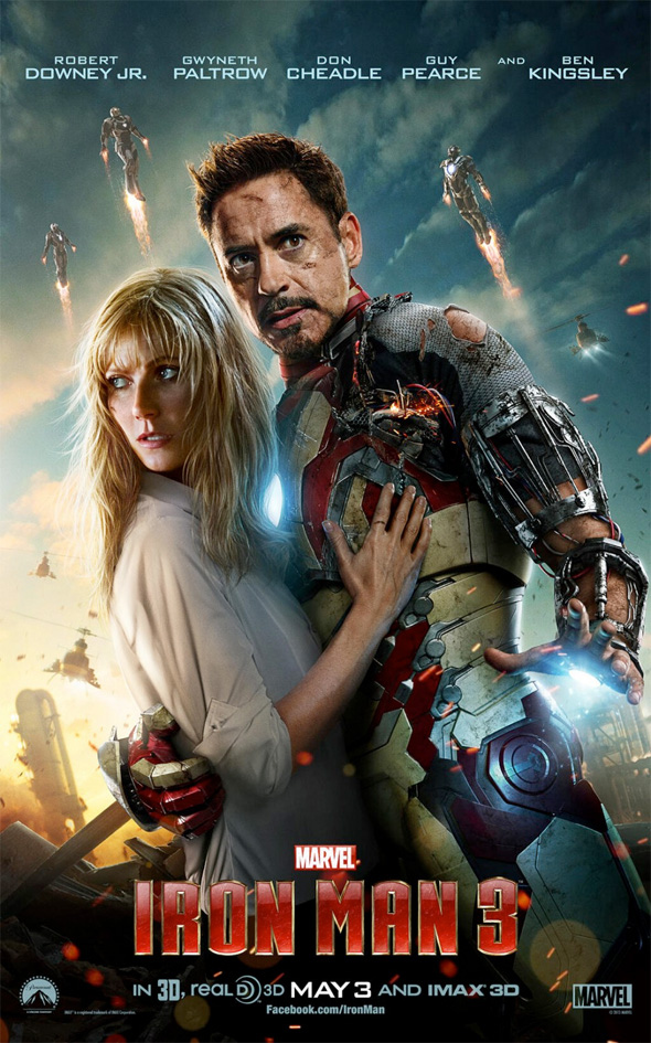 iron man 3 pepper Tony poster