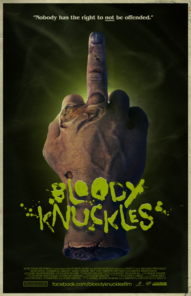 bloody knuckles poster art