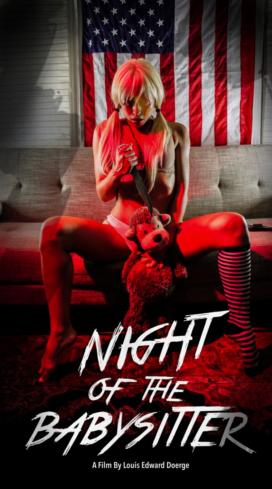 night of the babysitter poster