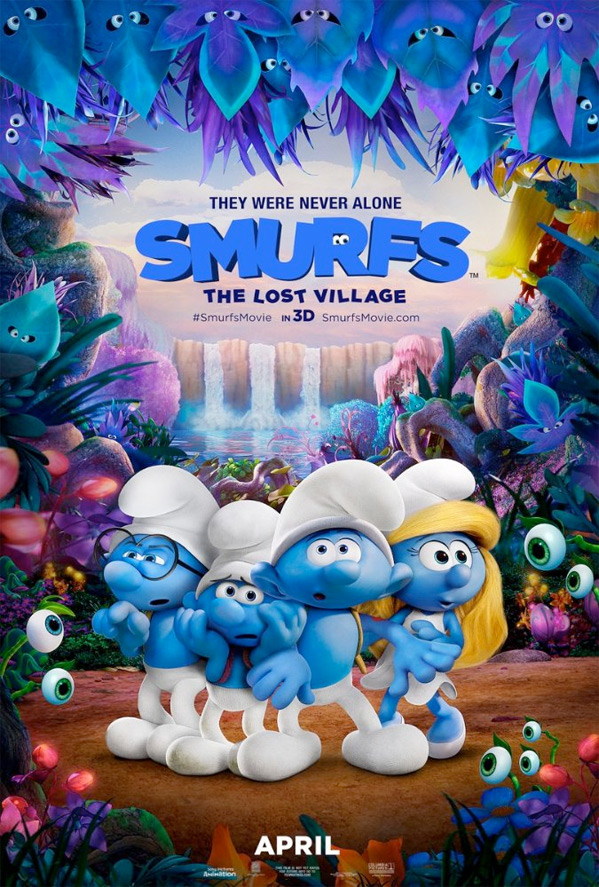 smurf the lost village poster